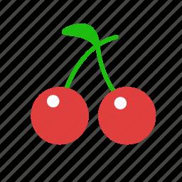 berries, berry, cherries, cherry, food, fruit icon