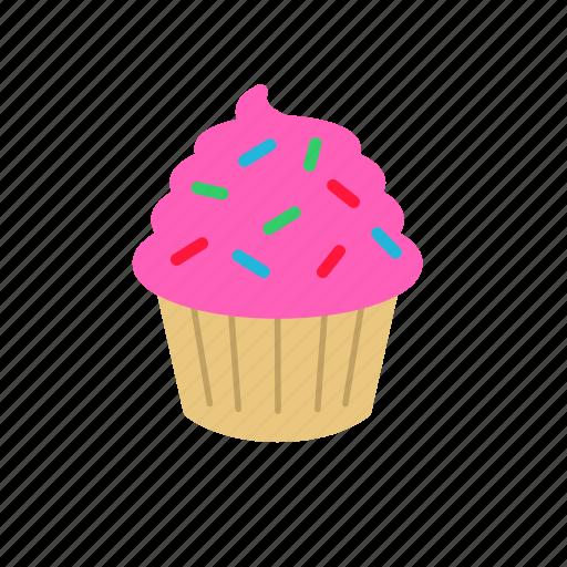 cupcake, frosting, sprinkles, sweet icon