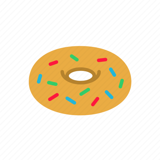 donut, junk food, sprinkles, sweet icon
