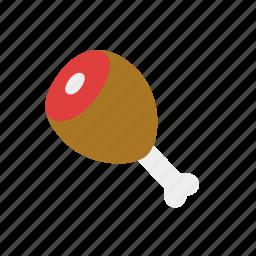 chicken, chicken drumstick, drumstick, meat, protein icon
