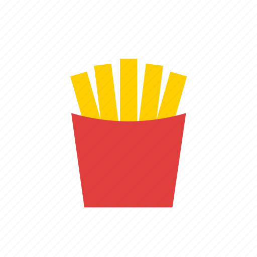 fastfood, french fries, fries, junk food icon