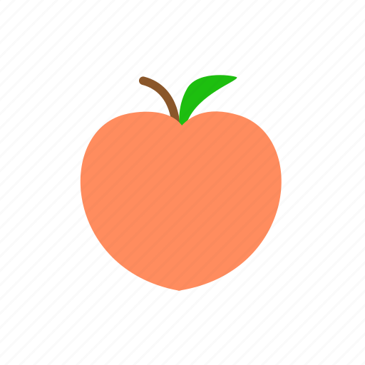 fresh, fruit, juicy, peach, sweet icon