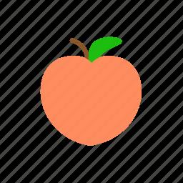 fresh, fruit, peach, sweet icon