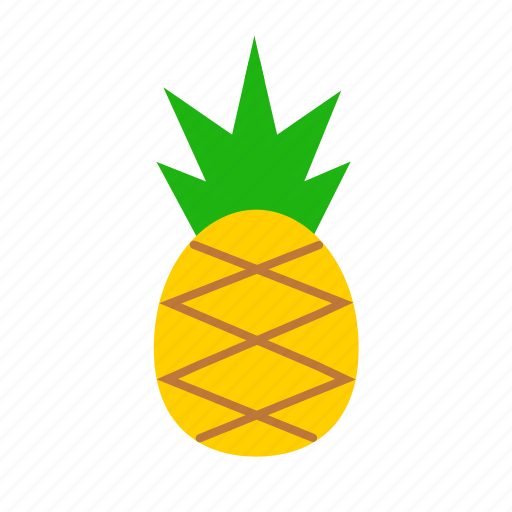 fresh, fruit, healthy, juicy, pineapple, sweet, tropical icon