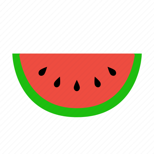 piece, seeds, slice, watermelon icon