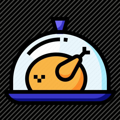 chicken, cooking, food, lunch, restaurant icon