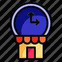 open, restaurant, shop, start, time icon