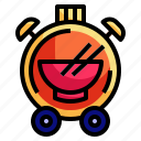 cloche, clock, food, time, watch icon