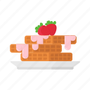 color, food, packaging, waffles icon