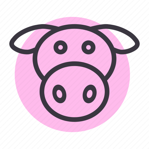 agriculture, beef, cow, dairy, farm, livestock, meat icon