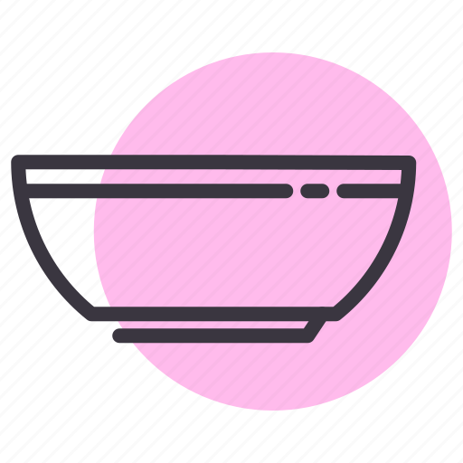 bowl, kitchen, utensil icon