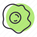 egg, food, fry, omelette icon
