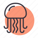 aquatic, fish, food, jellyfish, marine, sea, seafood icon