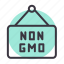 board, food, gmo, hanger, non, organic icon