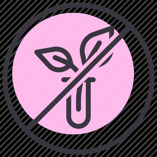 banned, food, gmo, natural, non, organic, prohibited icon