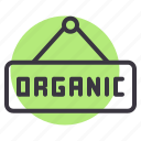board, food, hanger, market, organic, vegetable icon