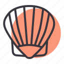 aquatic, food, marine, oyster, sea, shell icon