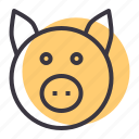 cattle, farm, livestock, pig, pork icon