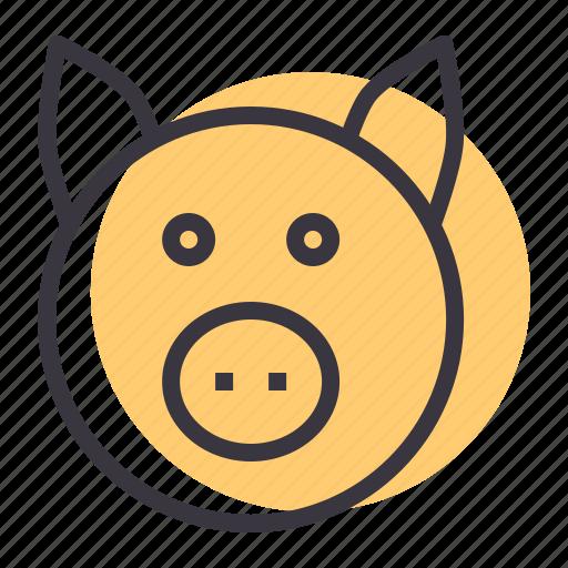 cattle, farm, livestock, pig, pork icon