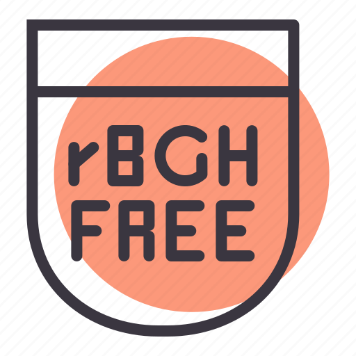bovine, food, free, growth, hormone, organic, rbgh icon