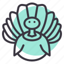 bird, farm, poultry, thanksgiving, turkey icon