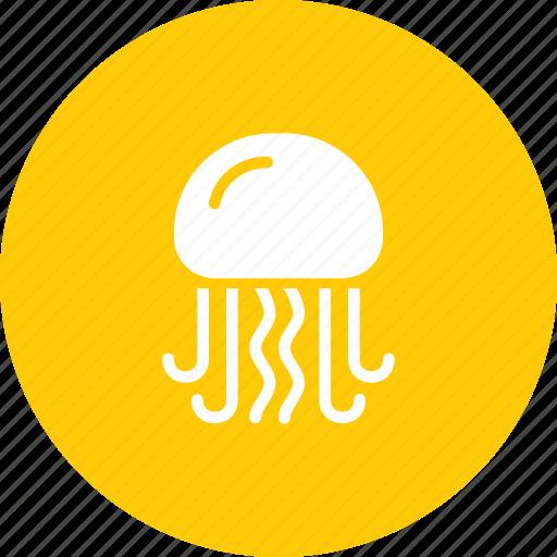 aquatic, fish, food, jellyfish, marine, sea, seafood icon
