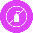 banned, no, organic, pesticide, prohibited, spray, warning icon