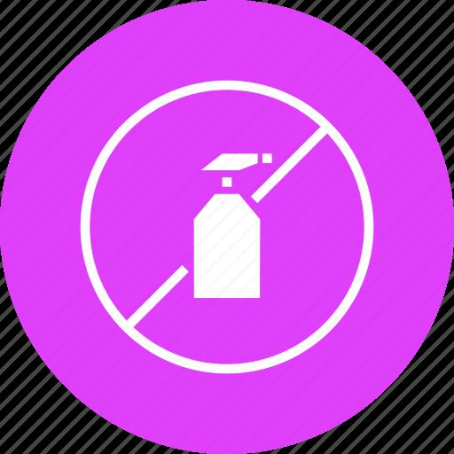 banned, no, organic, pesticide, prohibited, spray, warning icon