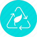bio, cycle, eco, environment, green, plant, recycle icon