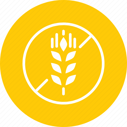 food, forbidden, gluten, no, prohibited, wheat icon
