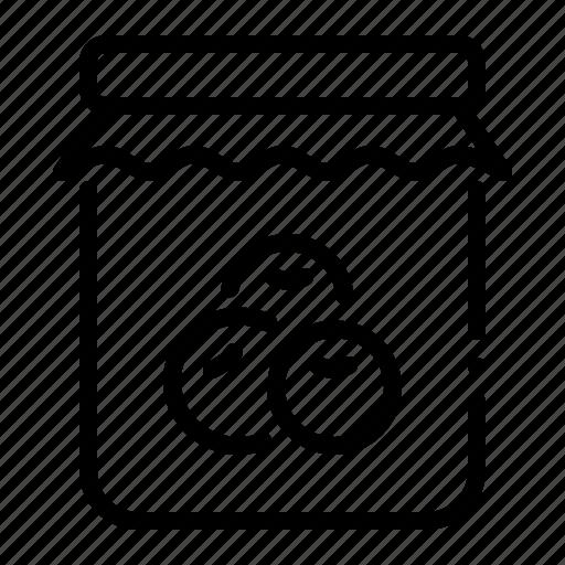 berry, bottle, flavor, fruit, jam, jar, topping icon