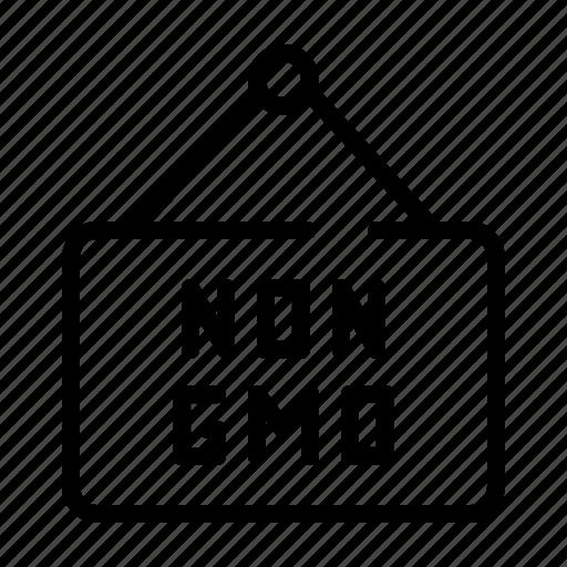 board, food, gmo, hanger, non, organic icon