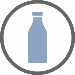 bottle, contains, dairy, dietary, food, label, milk icon