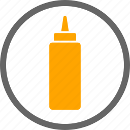 condiment, contain, contains, dietary, food, label, mustard icon