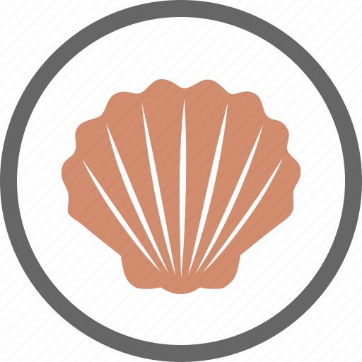 contain, contains, food, label, seashell, shell, shellfish icon
