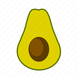 avocado, food, vegetable icon