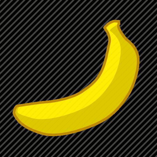 banana, food, fruit, yellow icon