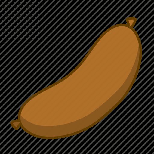 blood, blood sausage, brown, food, meat, sausage icon