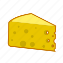 cheddar, cheese, dairy, edan, food, maazdaner, yellow icon