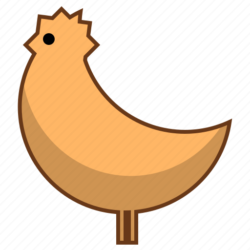 chicken, food icon