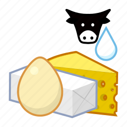 dairy, food icon