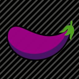 eggplant, food, purple, vegetable icon
