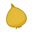 food, onion, vegetable, yellow