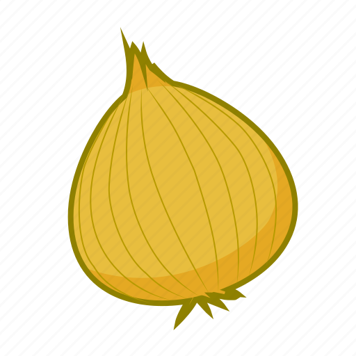 food, onion, vegetable, yellow icon