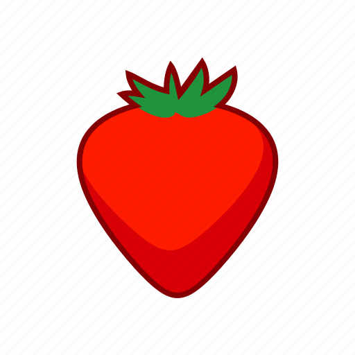 food, fruit, red, strawberry icon