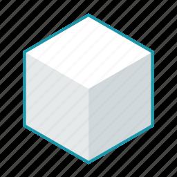 box, cube, dairy, food, pack, sugar, sugar cube icon