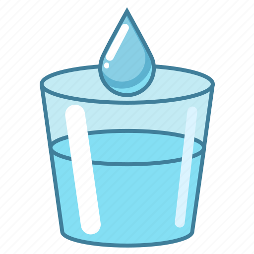 blue, drop, food, glass, water icon
