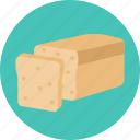 bakery products, bread, food icon