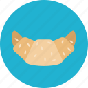 bun, croissant, food icon