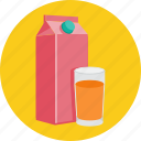 drink, glass, juice, pack icon
